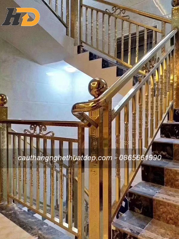 Inox mạ màu đồng cho không gian tân cổ điển