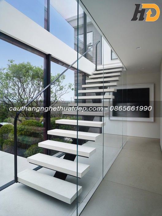 Thiết kế cầu thang hiện đại, nâng tầm giá trị không gian