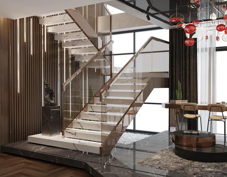 Hình ảnh thiết kế cầu thang tại Tây Hồ
