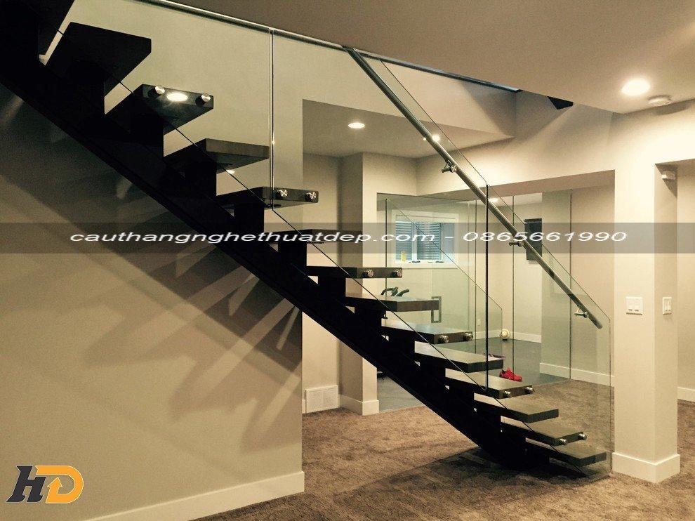 Thiết kế cầu thang xương cá sang trọng, đẳng cấp