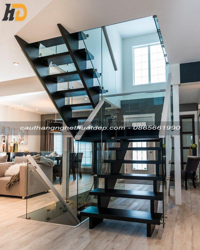 Cách bài trí cầu thang xương cá giúp nâng tầm giá trị ngôi nhà