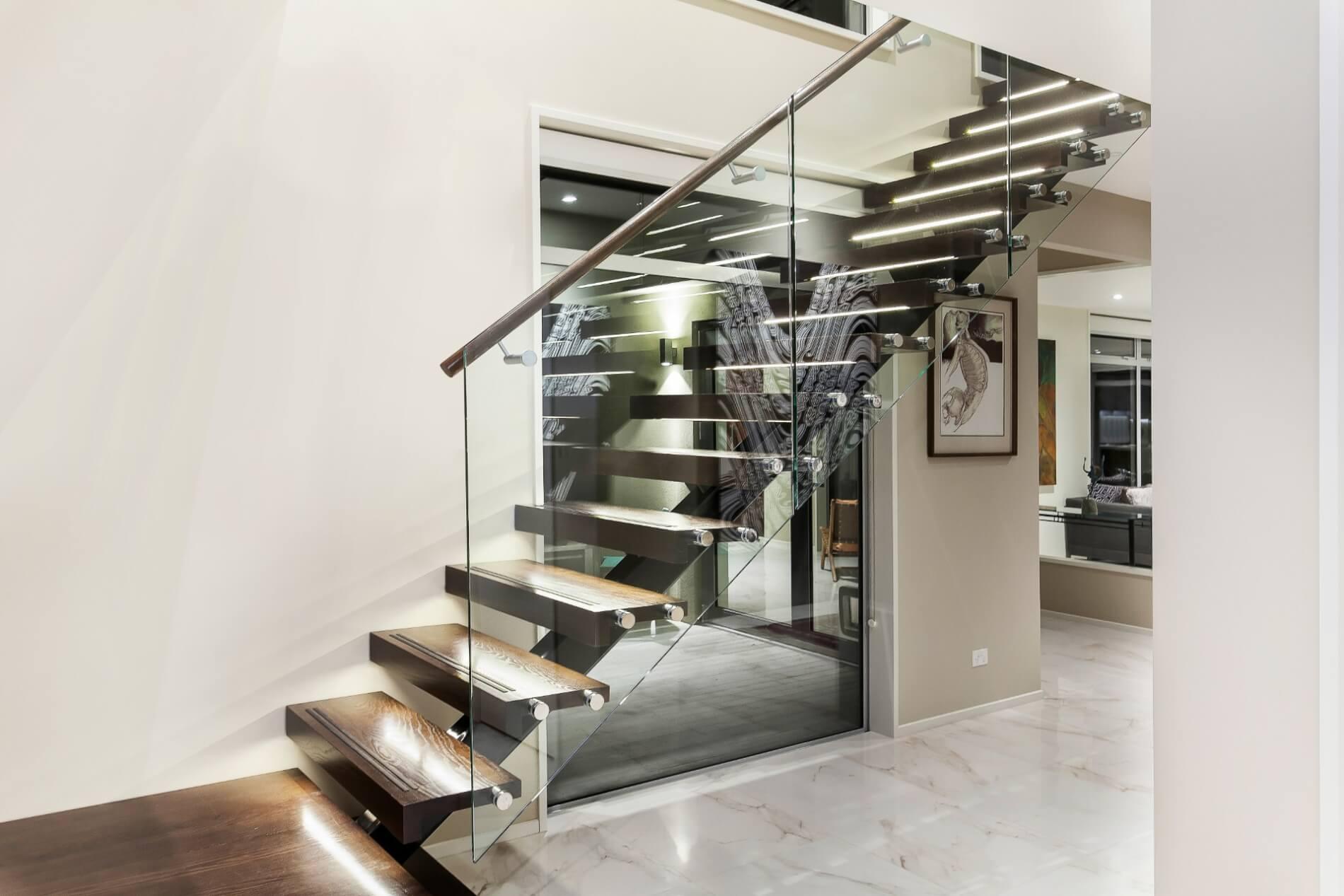 Mẫu cầu thang xương cá hiện đại cho không gian sang trọng như Biệt Thự, Penthouse